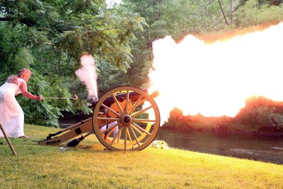 Bride Firing Cannon